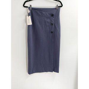 Aritzia Babaton Billy Button Midi Skirt NEW Sz 8